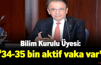 Bilim Kurulu Üyesi:34-35 bin aktif vaka var